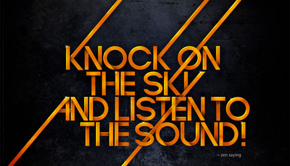 Knock on the sky