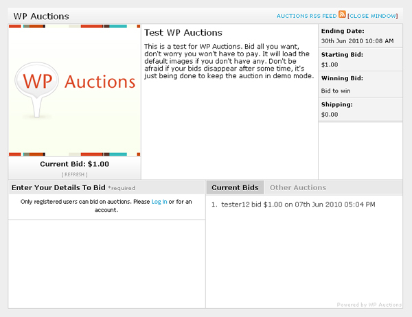 Aste online su siti WordPress facili da realizzare con WP Auctions