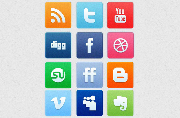 A Clean Noise Social Media Icon Set
