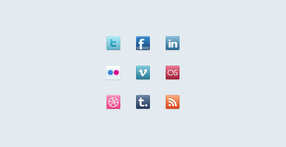Freshy Freebie - Social Icons
