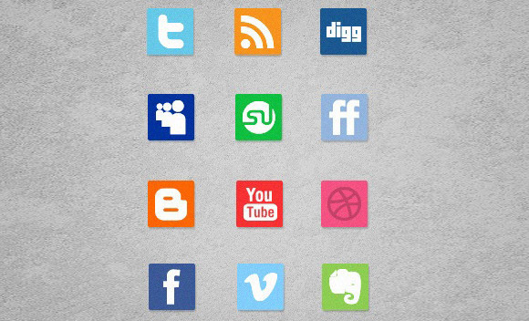 A Free Mini Simple Social Media Icon Set