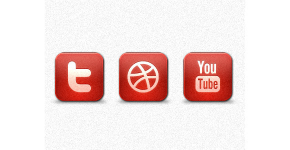 Red Noise Social Media Icon Set