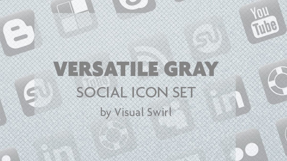 Versatile Gray – A Social Media Icon Set