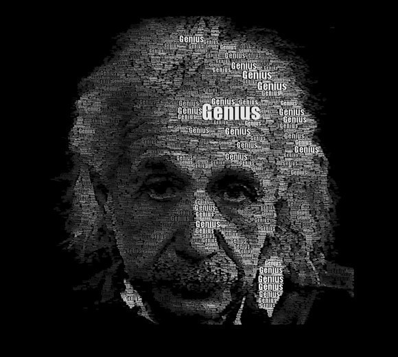Einstein Word Portrait