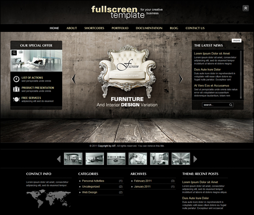 Fullscreen – Business tema
