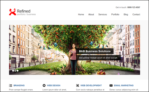 Refined WP - Portfolio / Business WordPress Theme