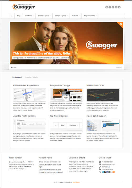 SWAGGER simple responsive wordpress theme