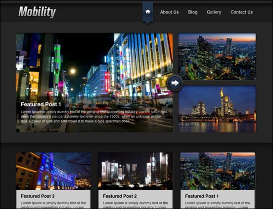 Mobility WordPress Theme for Web and iPad