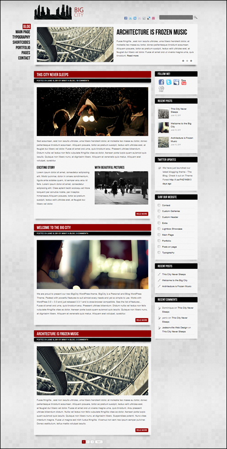 Big City – Blog/Magazine WordPress theme