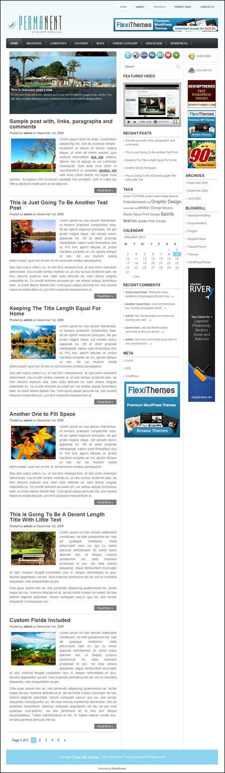 Permanent WordPress Magazine Theme