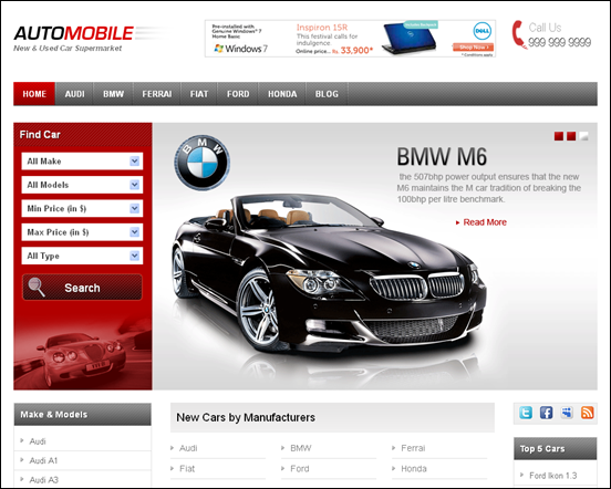 Automobile WordPress CMS