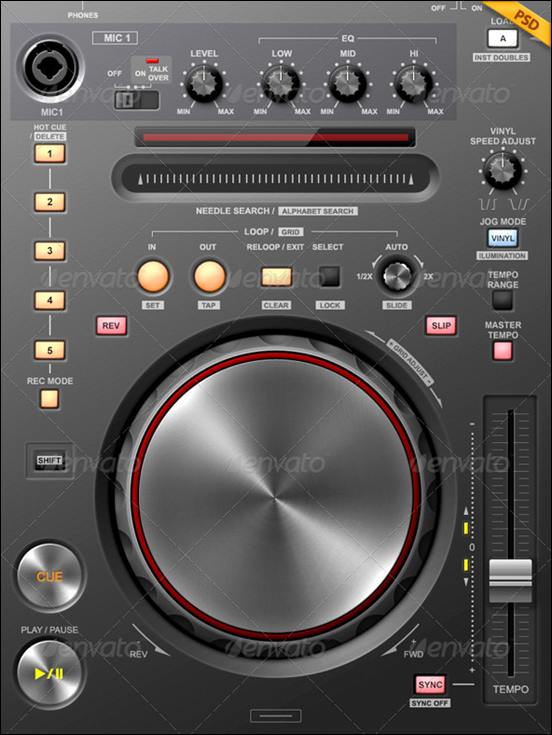 Tablet/Phone UI PRO 2 V.10 / MOBILE DJ