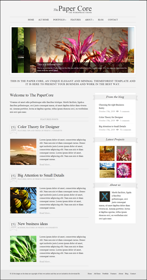 The PaperCore – Clean WordPress Theme