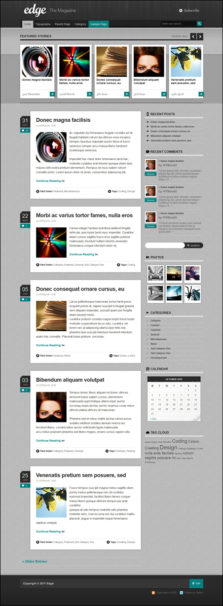 Edge - Magazine & Blog WordPress Theme