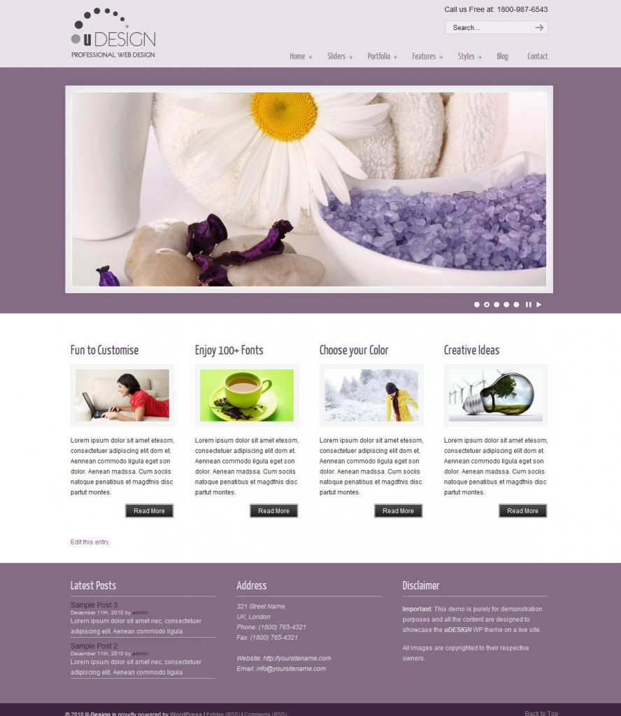 business wordpress temas u-design