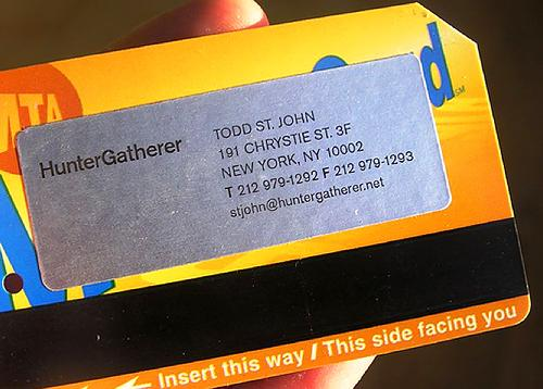 Recycled Travel Business Card