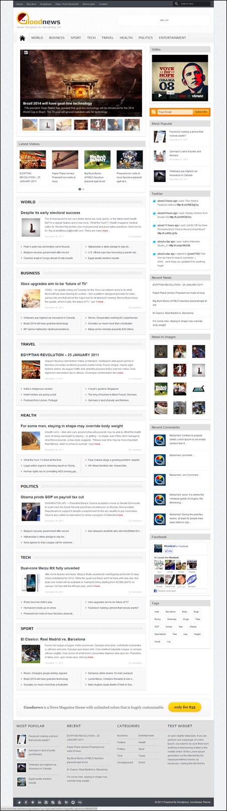 Goodnews – Premium WordPress News/Magazine