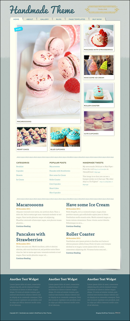Handmade - Personal WordPress Blogging/Magazine Theme