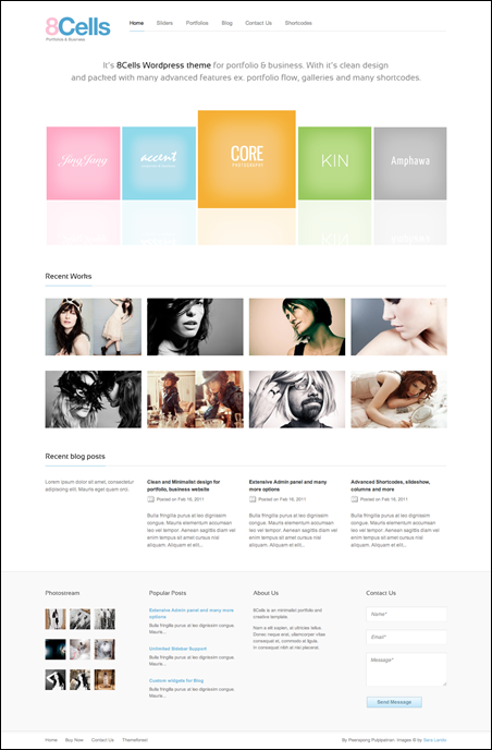 8Cells Minimalist and Clean WordPress Theme