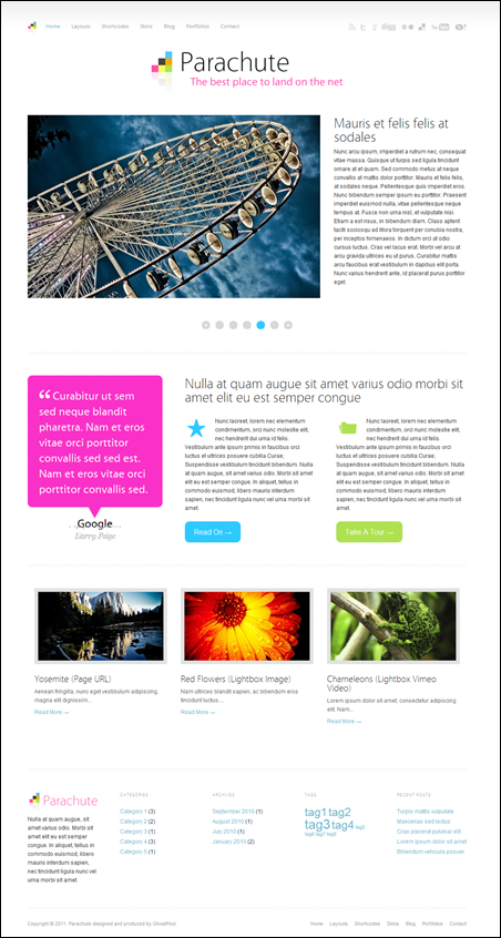 Parachute – minimalistic wordpress magazine theme