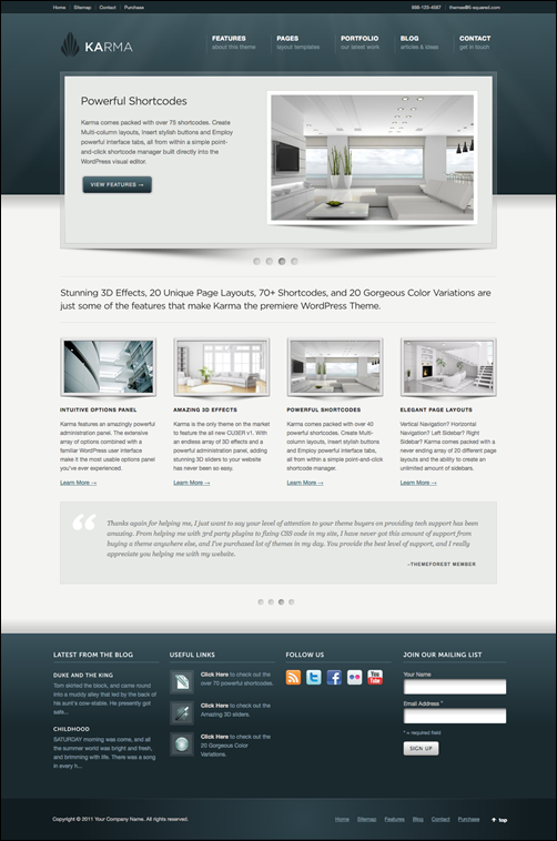 Karma – Clean and Modern Business WordPress tema