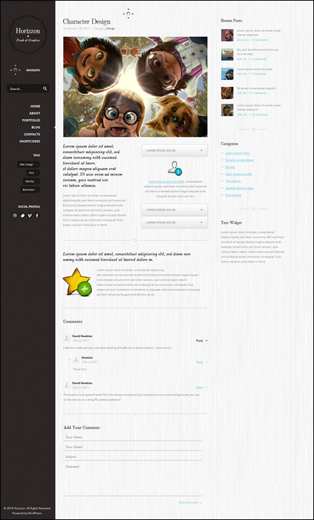 Horizzon WordPress Magazine Theme