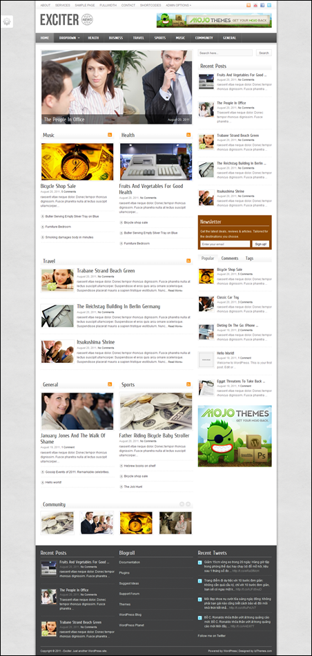 Exciter – Magazine WordPress Theme