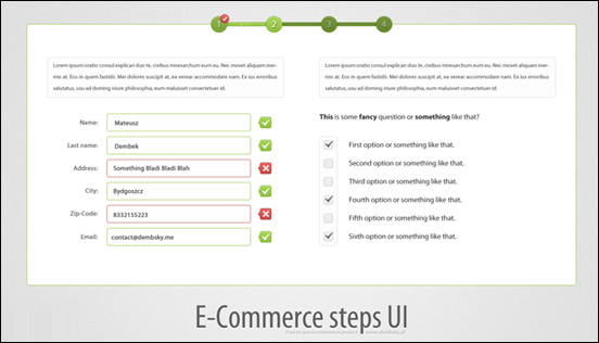 E-Commerce Step UI
