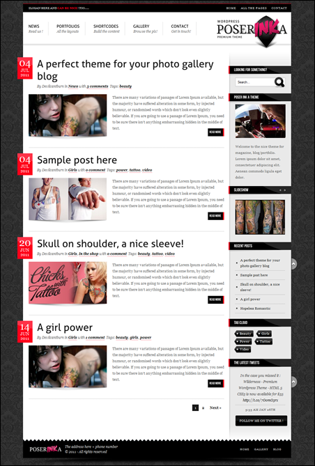 Poser Ink A - Premium WordPress Magazine