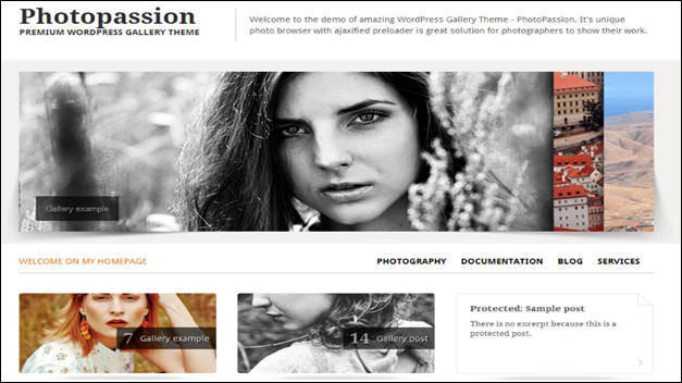 Photopassion WordPress Photography Themes