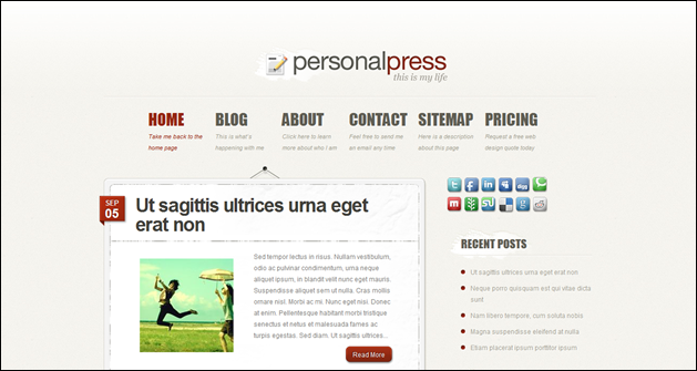 Elegant Themes: Personal Press