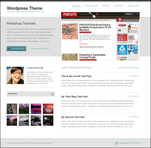 YourFolio WordPress Portfolio Theme
