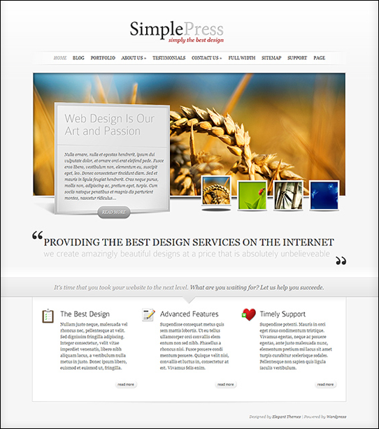 front page of SimplePress