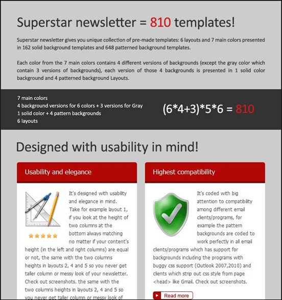 8bc1superstart newsletter thumb Modelli colorati ed accattivanti per newsletter