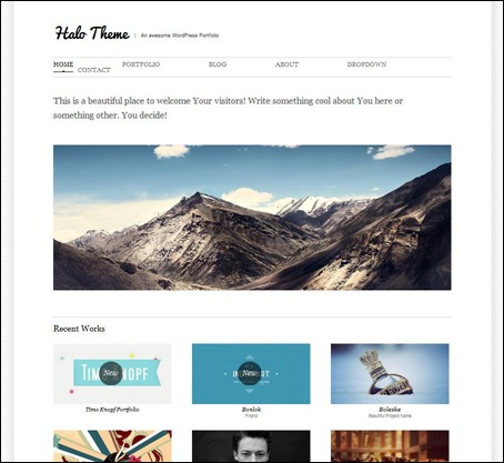 halo-simple-wordpress-theme