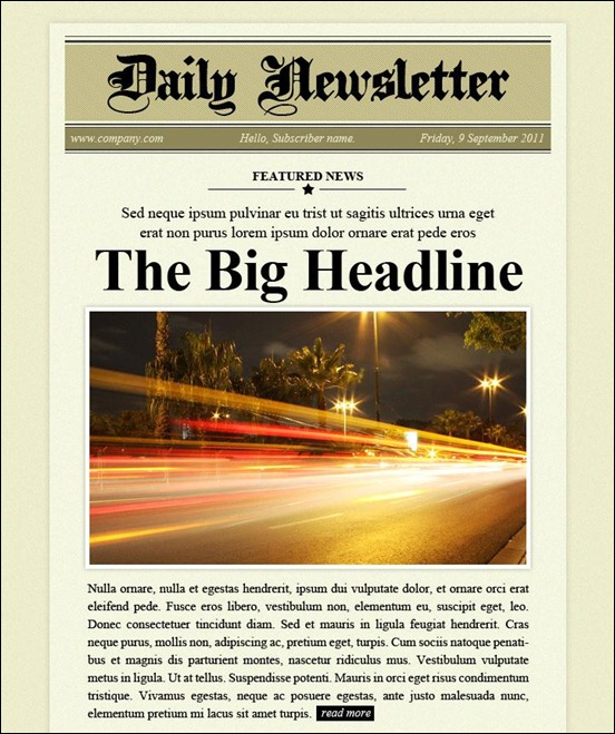 9693daily newsletter thumb Modelli colorati ed accattivanti per newsletter