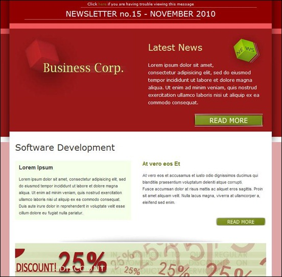 d963business corp thumb Modelli colorati ed accattivanti per newsletter