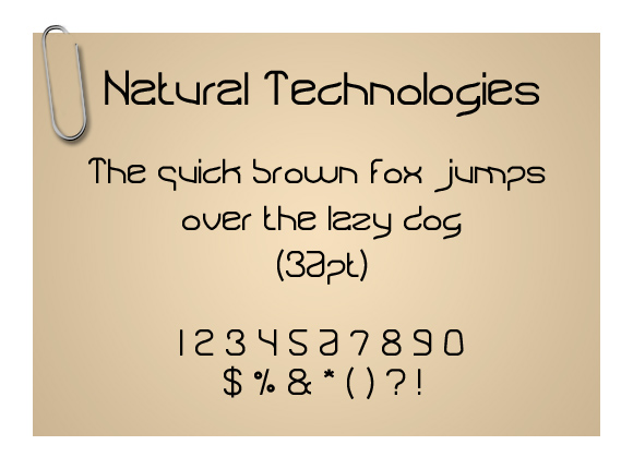 Natural Technologies