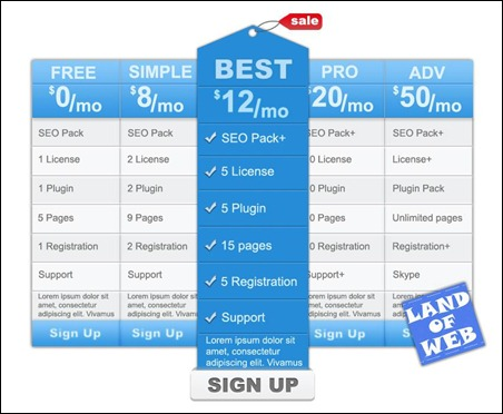 pricing-table-psd