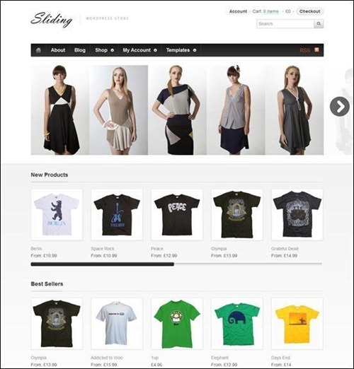 sliding-woocommerce-theme