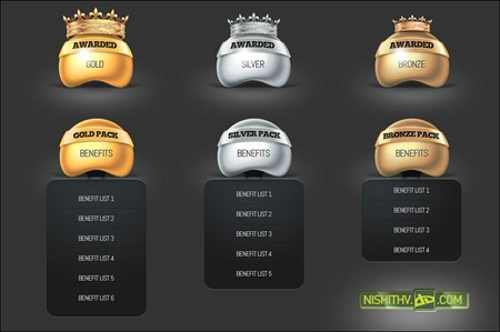 price-table-and-award-set-psd