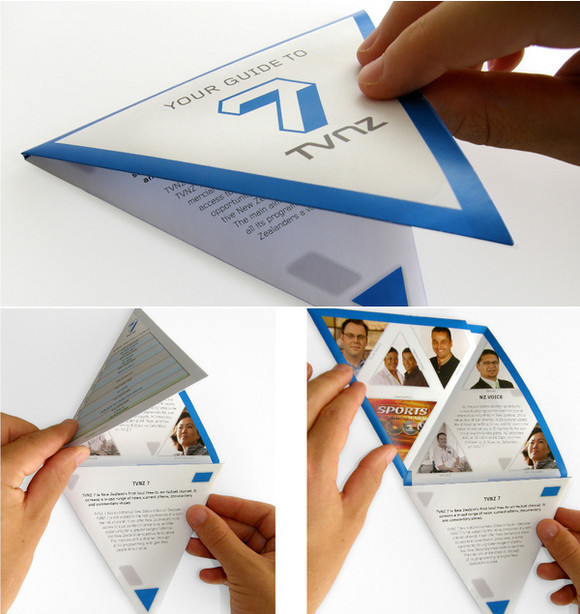 Triangular Folding Brochure
