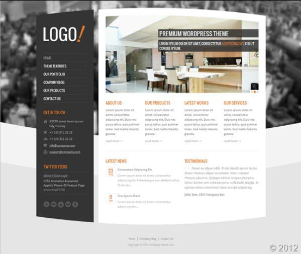 logo best wordpress themes