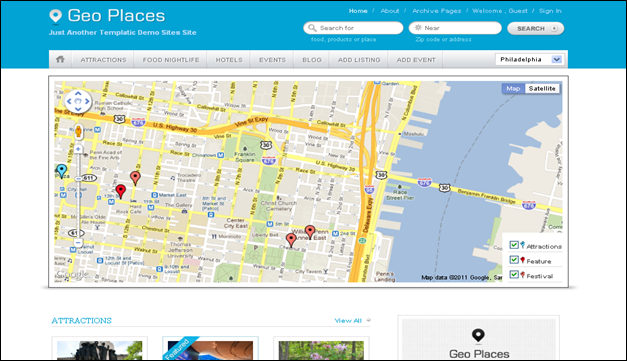 Geo Places - one of the beautiful travel WordPress Themes