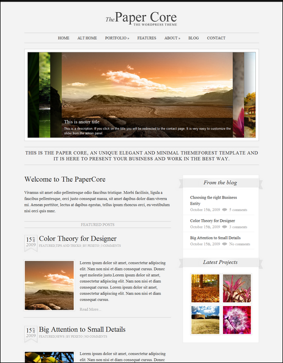 The PaperCore – Elegant WordPress Portfolio Theme