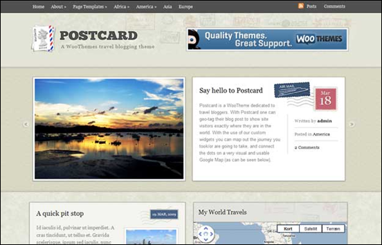 postcard wordpress travel theme