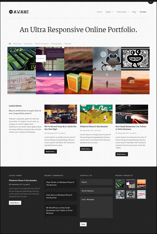 Aware responsive wordpress theme