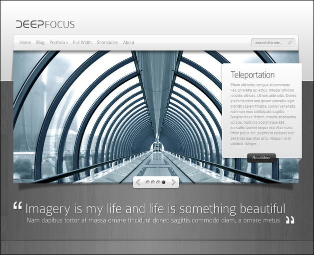 deepfocus wordpress photography theme