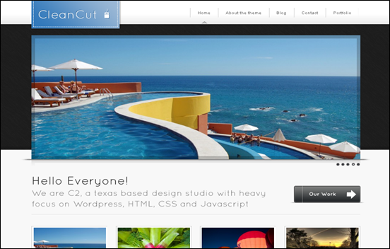 wordpress template Cleancut