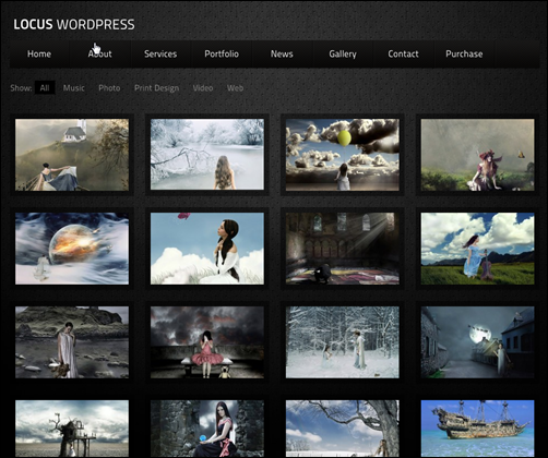 Locus One Page WordPress Gallery Themes